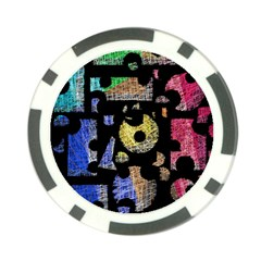 Colorful puzzle Poker Chip Card Guards (10 pack)