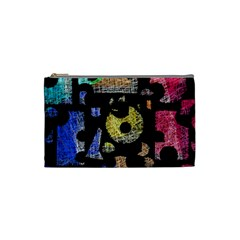 Colorful puzzle Cosmetic Bag (Small)