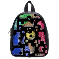 Colorful puzzle School Bags (Small)