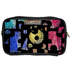 Colorful puzzle Toiletries Bags 2-Side