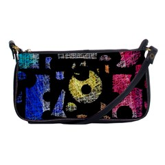 Colorful puzzle Shoulder Clutch Bags