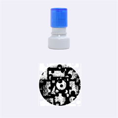 Colorful puzzle Rubber Round Stamps (Small)