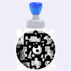 Colorful puzzle Rubber Round Stamps (Large)