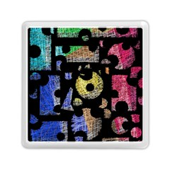 Colorful puzzle Memory Card Reader (Square)