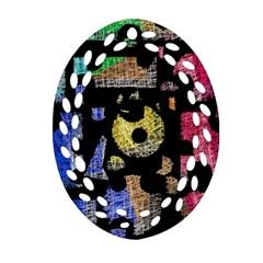 Colorful puzzle Ornament (Oval Filigree)