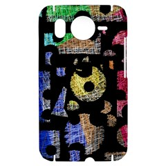 Colorful puzzle HTC Desire HD Hardshell Case