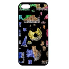 Colorful puzzle Apple iPhone 5 Seamless Case (Black)