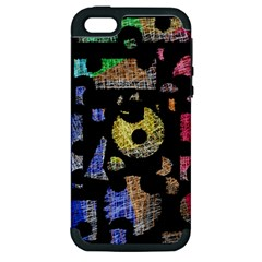 Colorful puzzle Apple iPhone 5 Hardshell Case (PC+Silicone)