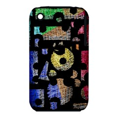 Colorful puzzle Apple iPhone 3G/3GS Hardshell Case (PC+Silicone)
