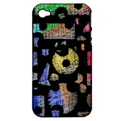 Colorful puzzle Apple iPhone 4/4S Hardshell Case (PC+Silicone)