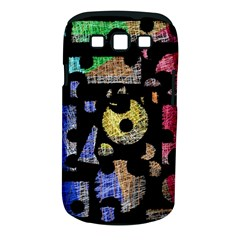Colorful puzzle Samsung Galaxy S III Classic Hardshell Case (PC+Silicone)