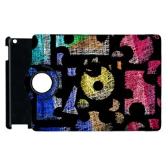 Colorful puzzle Apple iPad 2 Flip 360 Case