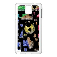 Colorful puzzle Samsung Galaxy Note 3 N9005 Case (White)