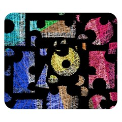 Colorful puzzle Double Sided Flano Blanket (Small)
