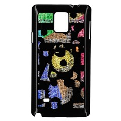 Colorful puzzle Samsung Galaxy Note 4 Case (Black)