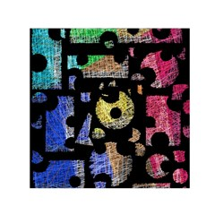 Colorful puzzle Small Satin Scarf (Square)