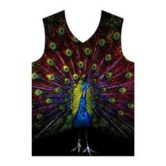 Beautiful Peacock Feather Men s Basketball Tank Top