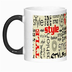 Backdrop Style With Texture And Typography Fashion Style Morph Mugs