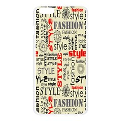 Backdrop Style With Texture And Typography Fashion Style Apple Seamless iPhone 6 Plus/6S Plus Case (Transparent)