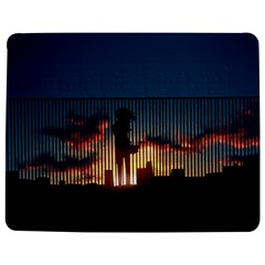 Art Sunset Anime Afternoon Jigsaw Puzzle Photo Stand (Rectangular)