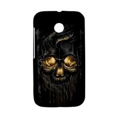 Art Fiction Black Skeletons Skull Smoke Motorola Moto E