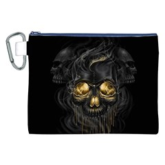 Art Fiction Black Skeletons Skull Smoke Canvas Cosmetic Bag (XXL)