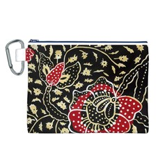 Art Batik Pattern Canvas Cosmetic Bag (L)