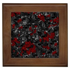 Gray and red decorative art Framed Tiles