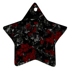 Gray and red decorative art Ornament (Star)