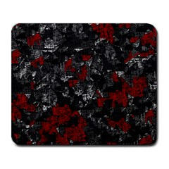 Gray and red decorative art Large Mousepads
