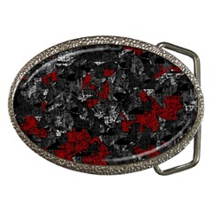 Gray and red decorative art Belt Buckles