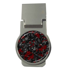 Gray and red decorative art Money Clips (Round)