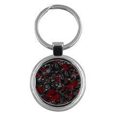 Gray and red decorative art Key Chains (Round)