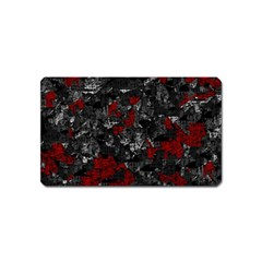 Gray and red decorative art Magnet (Name Card)