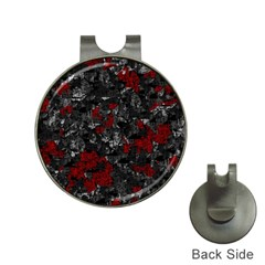 Gray and red decorative art Hat Clips with Golf Markers