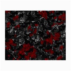 Gray and red decorative art Small Glasses Cloth