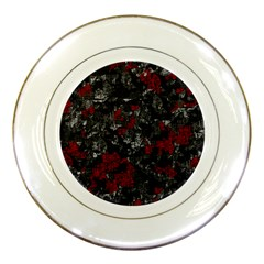 Gray and red decorative art Porcelain Plates