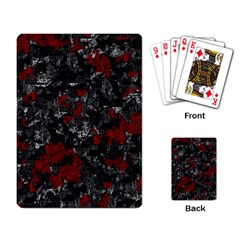 Gray and red decorative art Playing Card