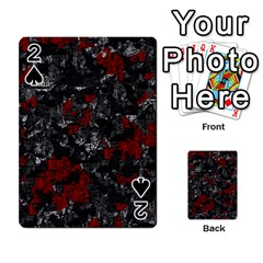 Gray and red decorative art Playing Cards 54 Designs
