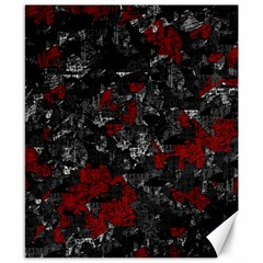 Gray and red decorative art Canvas 8  x 10