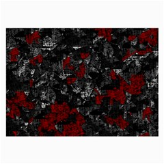 Gray and red decorative art Large Glasses Cloth