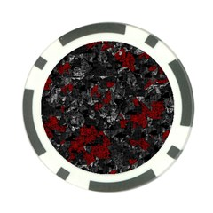 Gray and red decorative art Poker Chip Card Guards