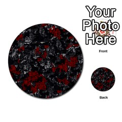 Gray and red decorative art Multi-purpose Cards (Round)