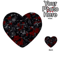 Gray and red decorative art Multi-purpose Cards (Heart)