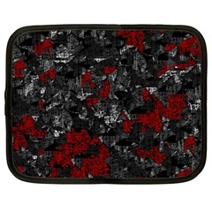 Gray and red decorative art Netbook Case (Large)