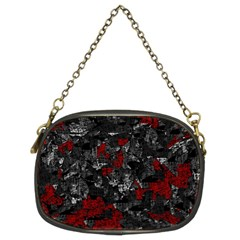 Gray and red decorative art Chain Purses (Two Sides)
