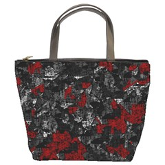 Gray and red decorative art Bucket Bags