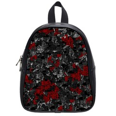 Gray and red decorative art School Bags (Small)
