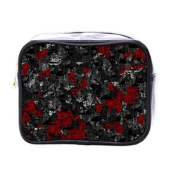 Gray and red decorative art Mini Toiletries Bags