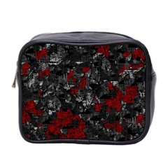 Gray and red decorative art Mini Toiletries Bag 2-Side